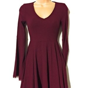 American Rag Bell-Sleeve Fit & Flare Dress Size XS